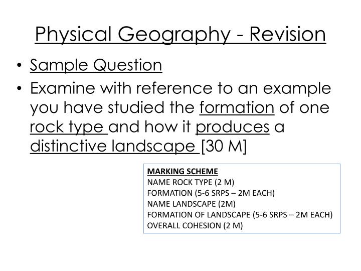 Physical Geography - Revision