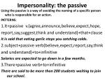 impersonality the passive