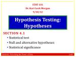 hypothesis testing hypotheses