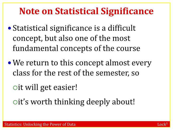 Note on Statistical Significance