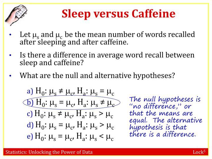 Sleep versus Caffeine