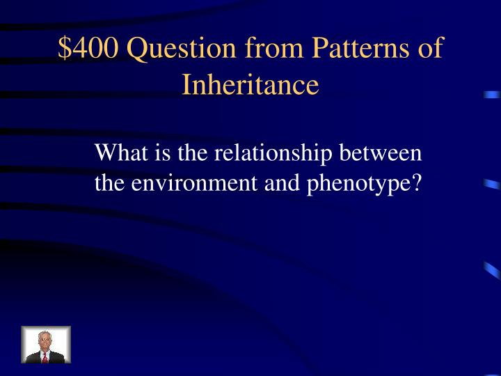 $400 Question from Patterns of Inheritance