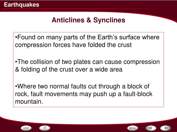 Anticlines & Synclines