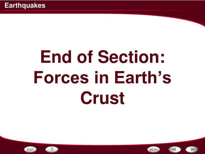 End of Section:
