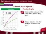seismic wave speeds1