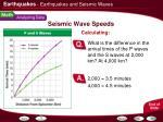 seismic wave speeds4