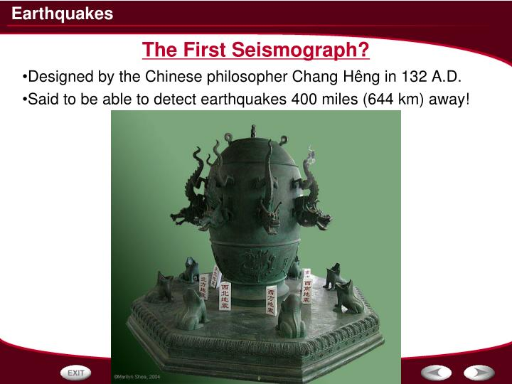 The First Seismograph?