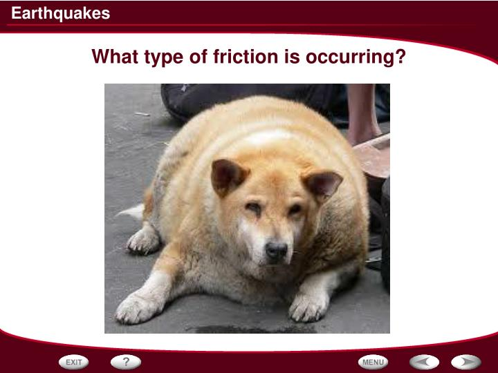 What type of friction is occurring?