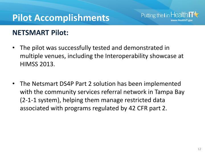 NETSMART Pilot: