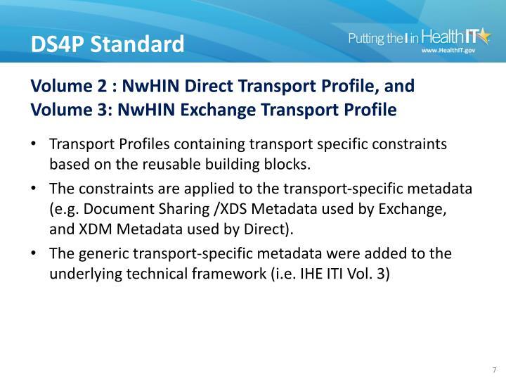 Volume 2 : NwHIN Direct Transport