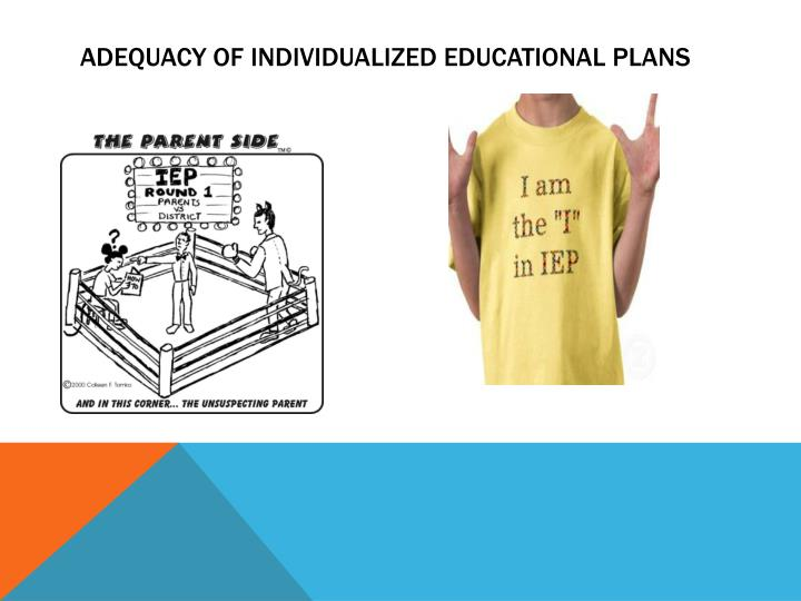 Adequacy of individualized educational plans