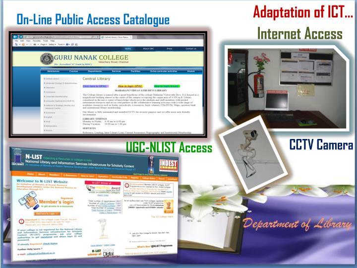 Adaptation of ICT…
