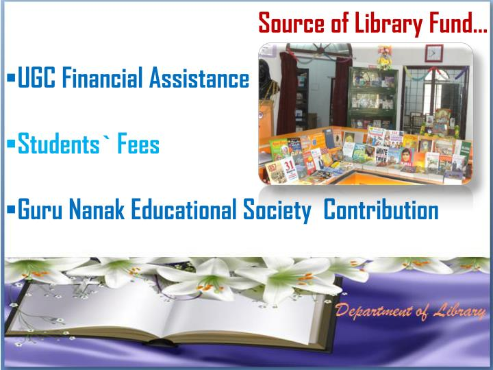 Source of Library Fund…
