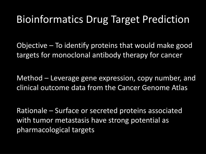 Bioinformatics Drug