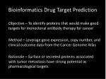 bioinformatics drug t arget p rediction