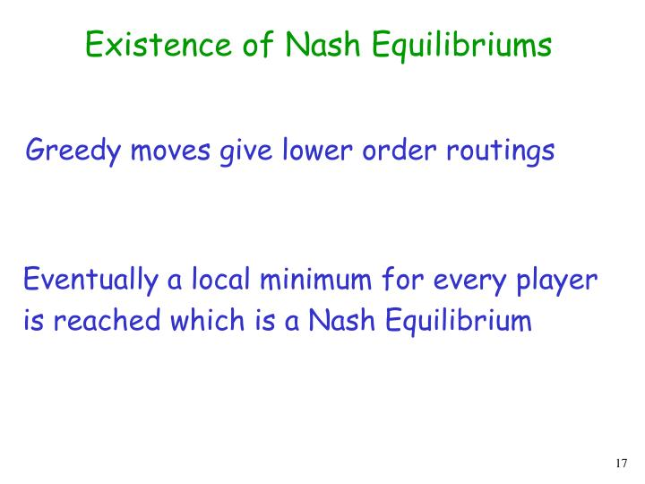 Existence of Nash Equilibriums