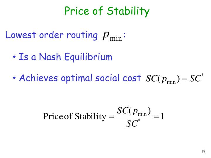 Price of Stability