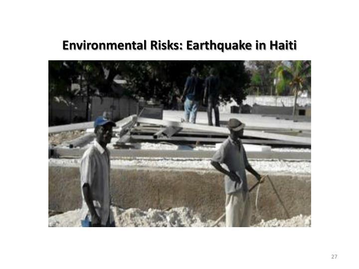 Environmental Risks: Earthquake in Haiti