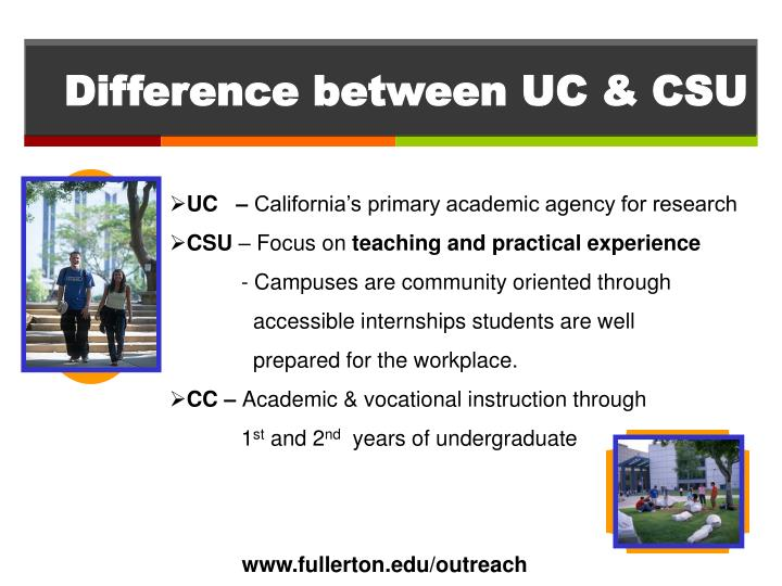 Difference between UC & CSU