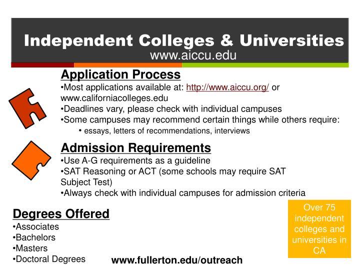 Independent Colleges & Universities