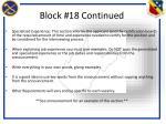 block 18 continued