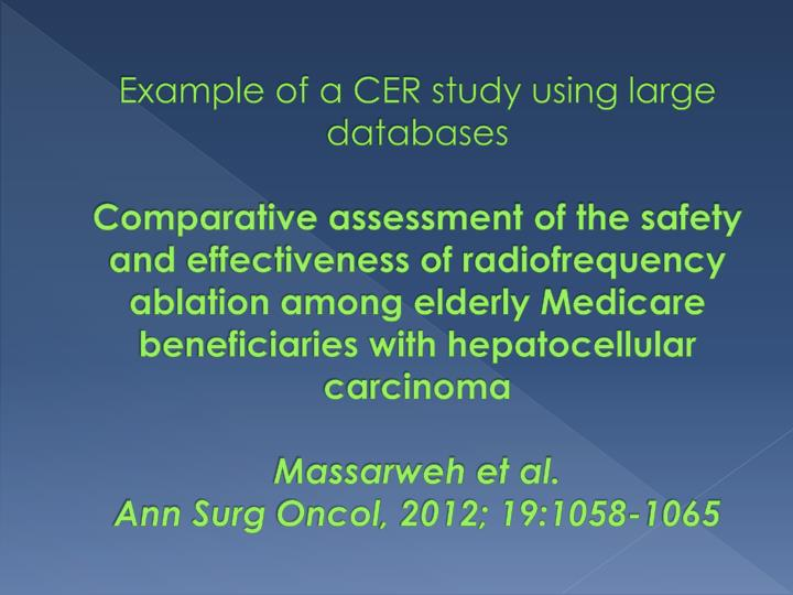 Example of a CER study using large databases