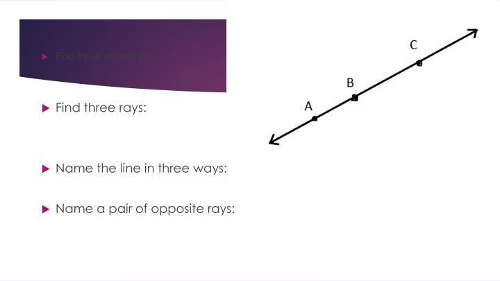 Find three segments:
