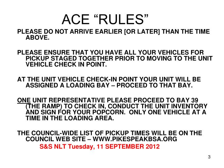 """ACE """"RULES"""""""