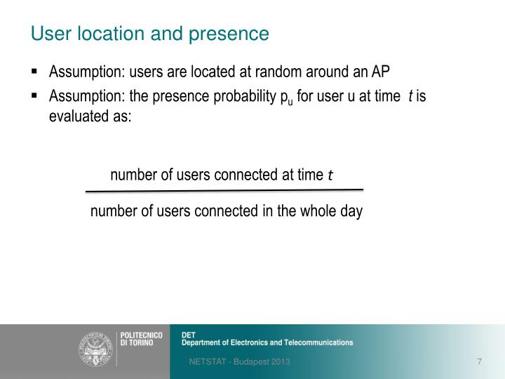 User location and presence