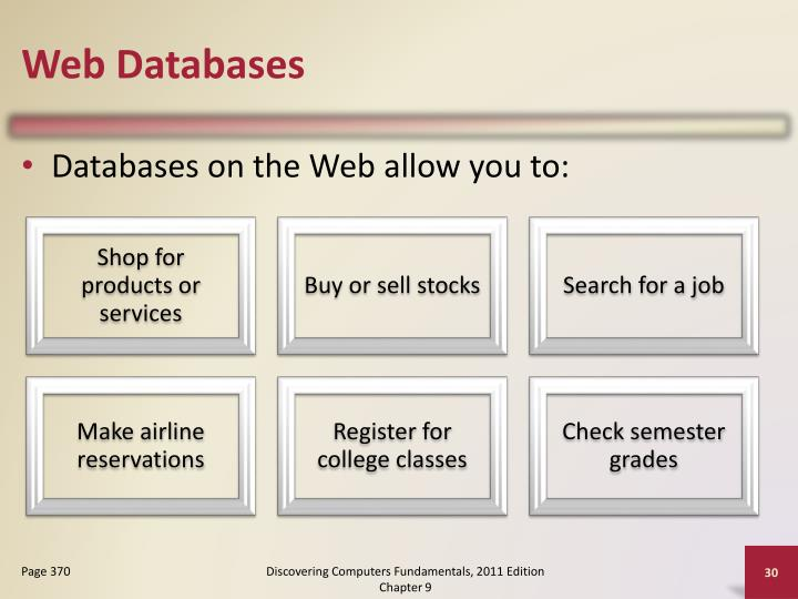 Web Databases