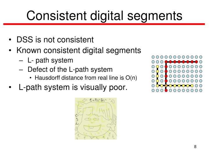 Consistent digital segments