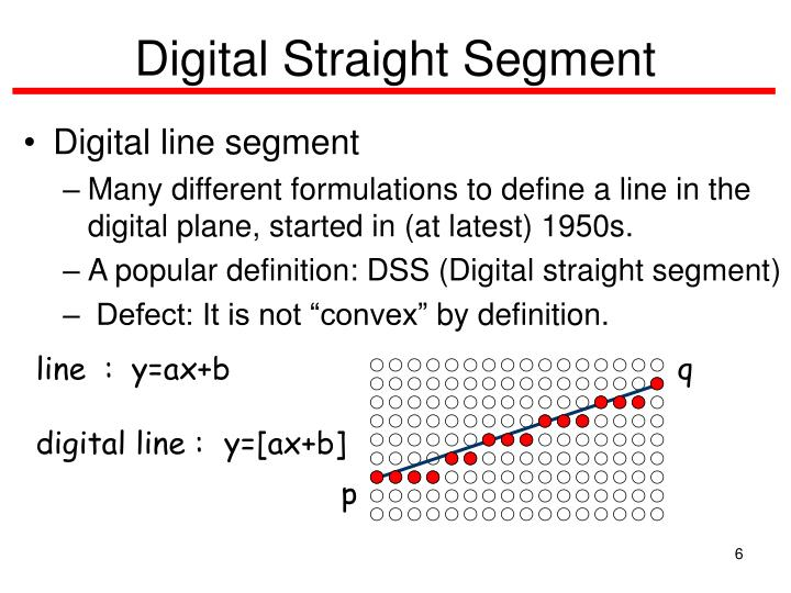 Digital Straight Segment