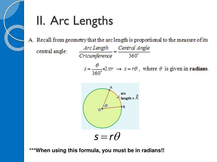 II.  Arc Lengths