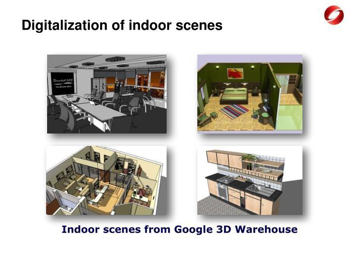 Digitalization of indoor scenes