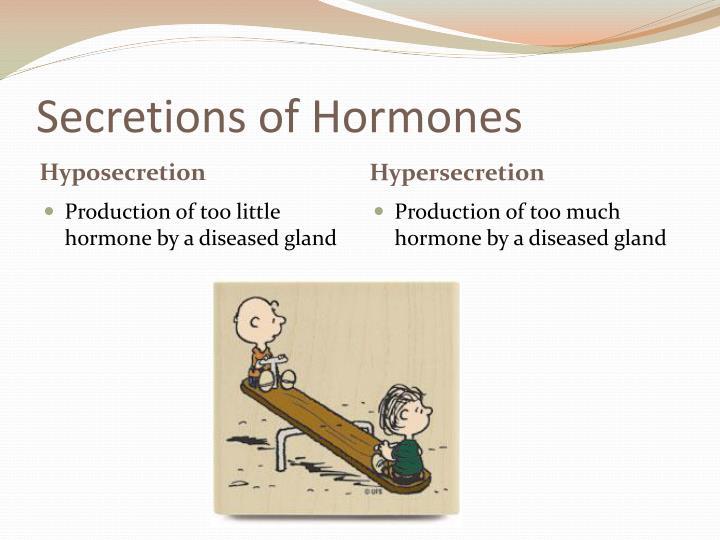 Secretions of Hormones