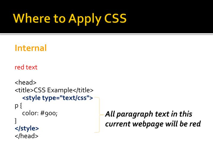 Where to Apply CSS