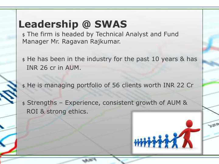 Leadership @ SWAS
