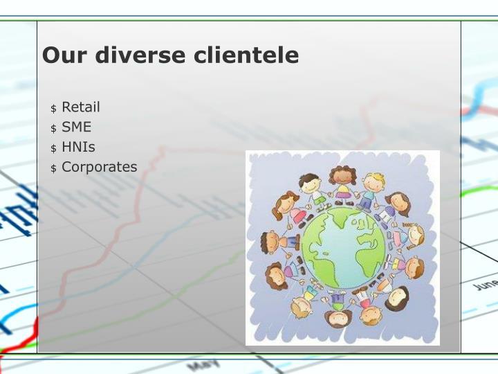 Our diverse clientele