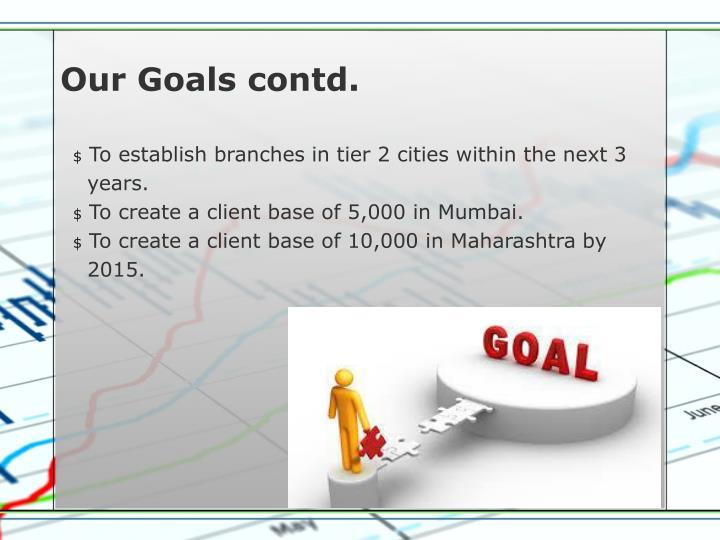 Our Goals contd.