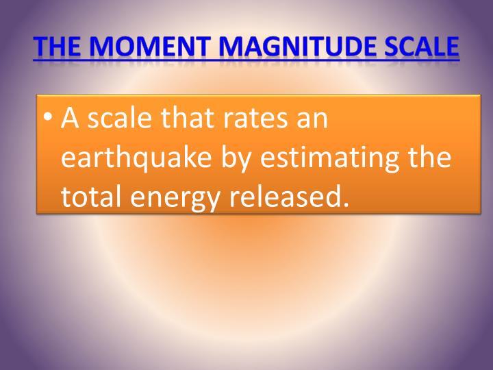 The Moment Magnitude Scale