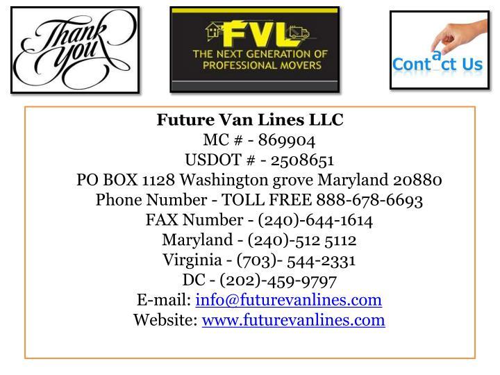 Future Van Lines LLC