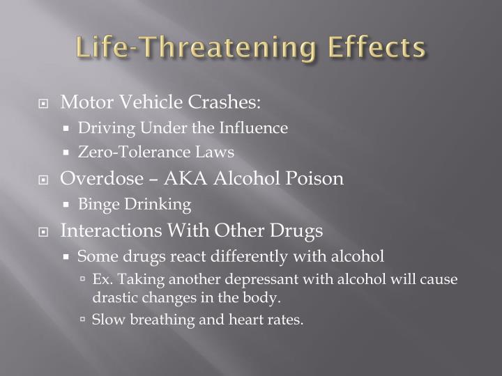 Life-Threatening Effects