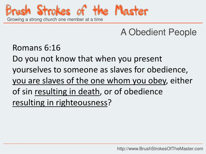 A Obedient People