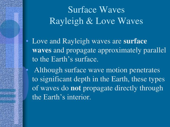 Surface Waves