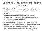 combining color texture and position features