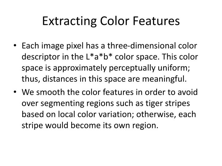 Extracting Color Features