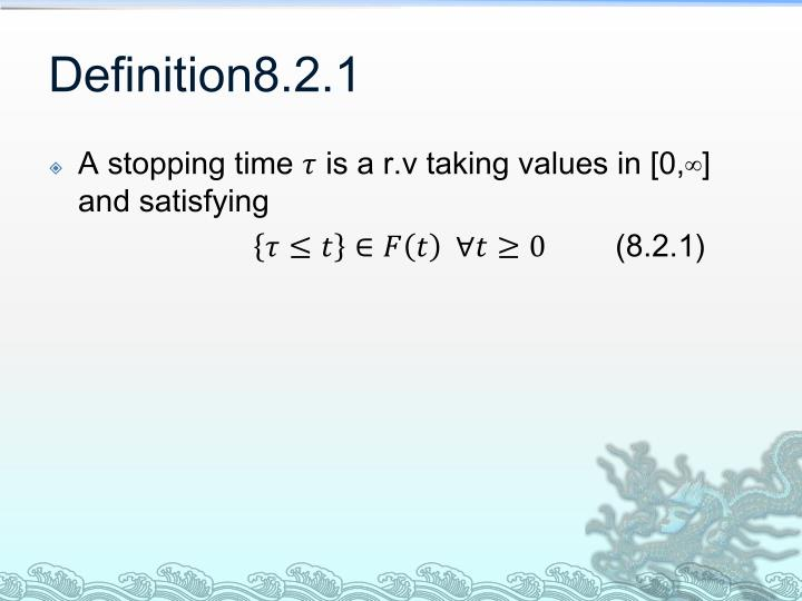 Definition8.2.1