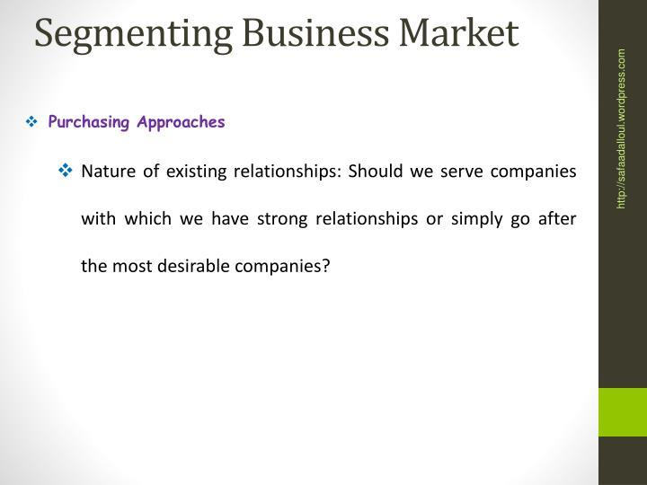 Segmenting Business Market