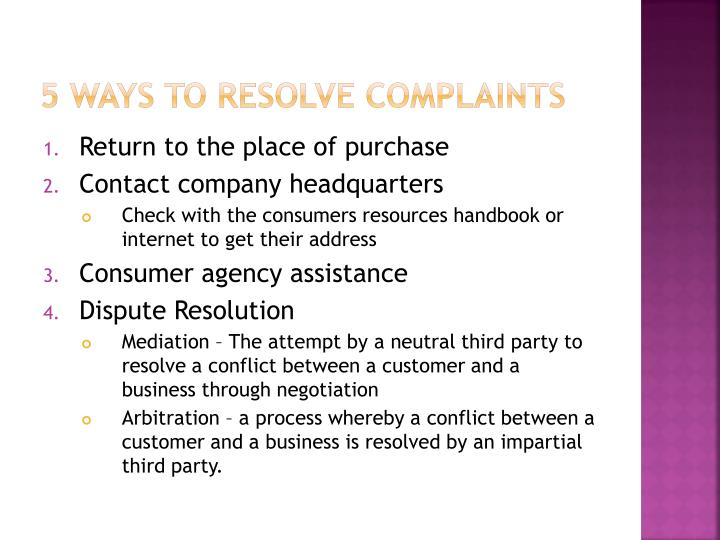 5 ways to resolve complaints