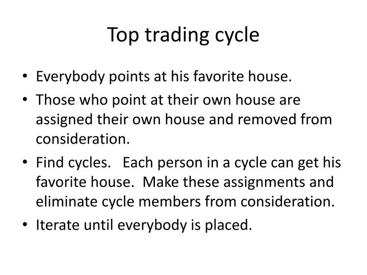 Top trading cycle